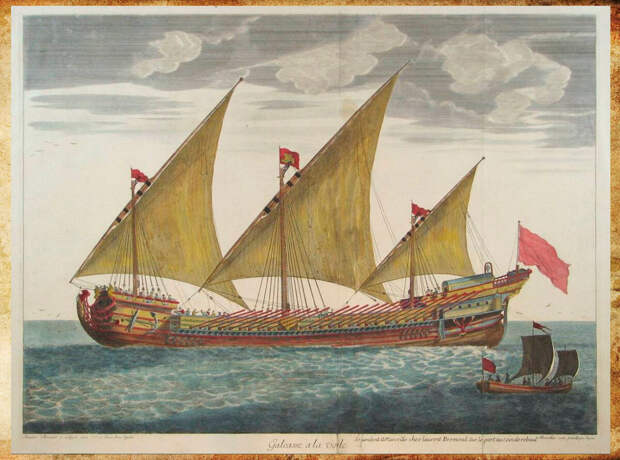 Галеас второй половины 16 века. Изображение взято из открытых источников.