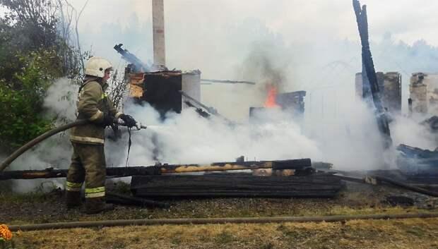 Пожар потушили в бывшем купеческом особняке в центре Подольска