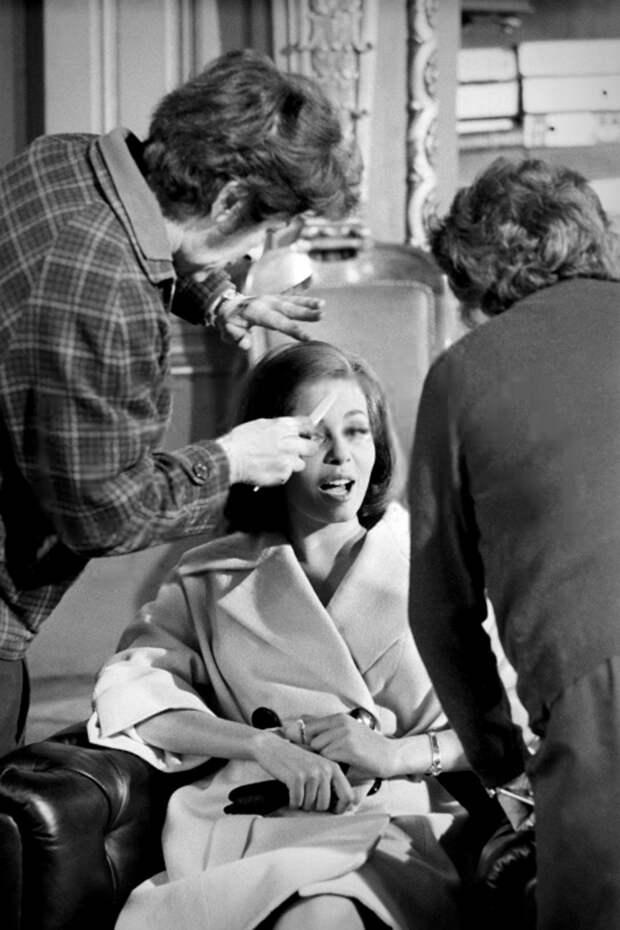 Редкие фото Мишель со съемок фильма «Казанова 70» (1965)