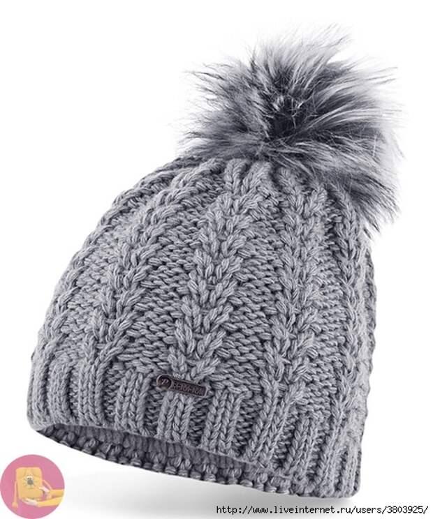 Красивая шапка с колосками