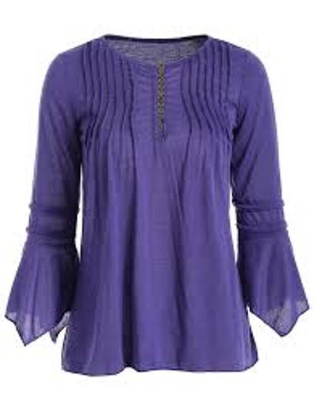 Интересные блузки со складочками: идеи