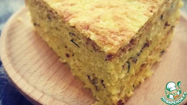 Закусочный торт из капусты и курицы