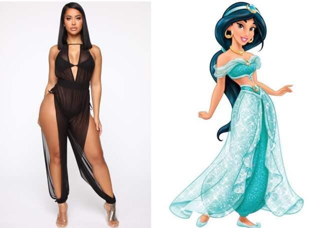 Восточный соблазн: сексуальный комбинезон как у принцессы Жасмин от Fashion Nova