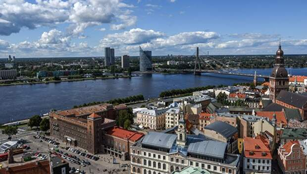 Вид города Рига в Латвии. Архивное фото