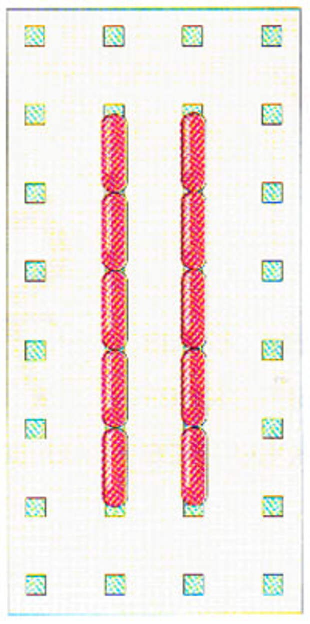 Вышивание крестиком по вертикали. Движение вперед (фото 9)