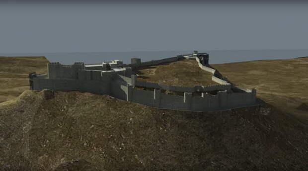 С восточной стороны вершина холма имеет практически отвесные склоны. Стены замка здесь ниже, чем в других частях укреплений, но при этом они остаются совершенно неприступными - Свидетель крестовых походов   Warspot.ru