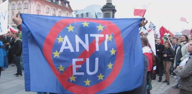 Манифестация против ЕС в Варшаве