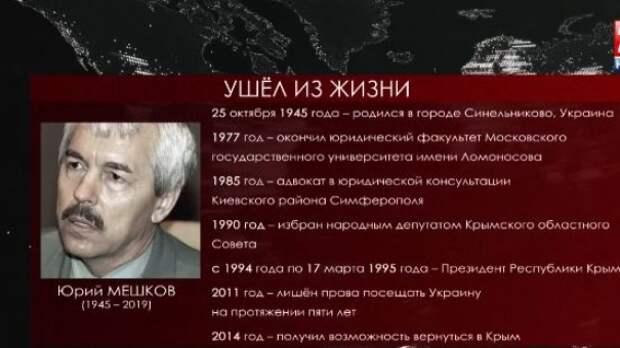 Скончался первый президент Крыма Юрий Мешков