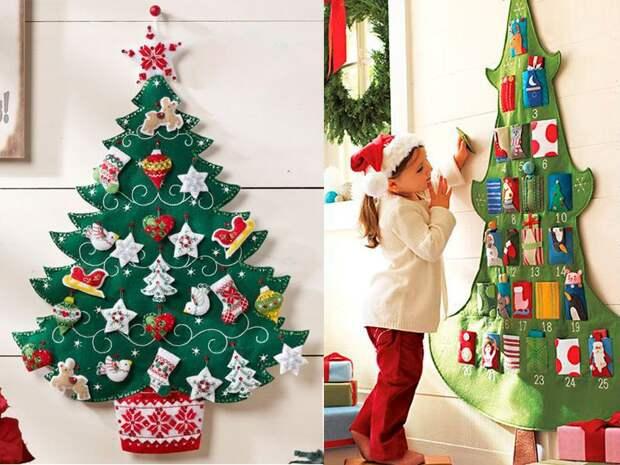 Новогодняя елка из фетра | Karamelka