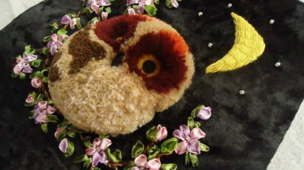 Мастер-класс по вышивке совушки: очаровательный пушистик турецким швом