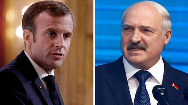 Макрон призвал Лукашенко добровольно покинуть пост президента