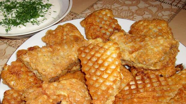Рецепт изумительных вафель с мясной начинкой для ленивых