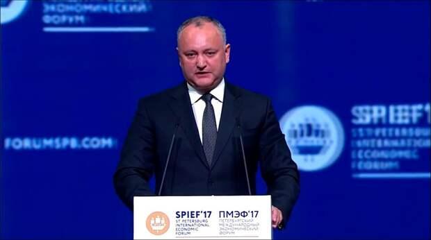 В фокусе мировых СМИ: о речи президента Молдавии Игоря Додона на питерском форуме
