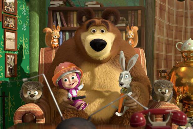 Мультфильм «Маша и Медведь» стал самым популярным в мире