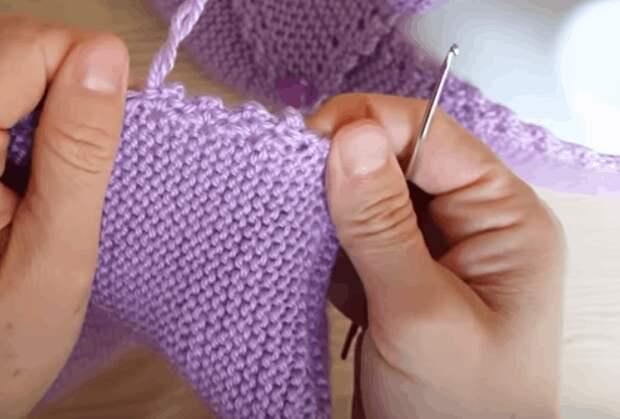 Оригинальные тапочки: легкое вязание и элементарная сборка
