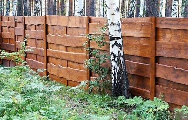 Забор из обзола. Фото с сайта izhevsk.ru