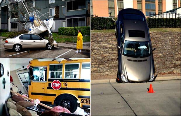 Снимки о горе-водителях, которым не стоило садиться за руль.