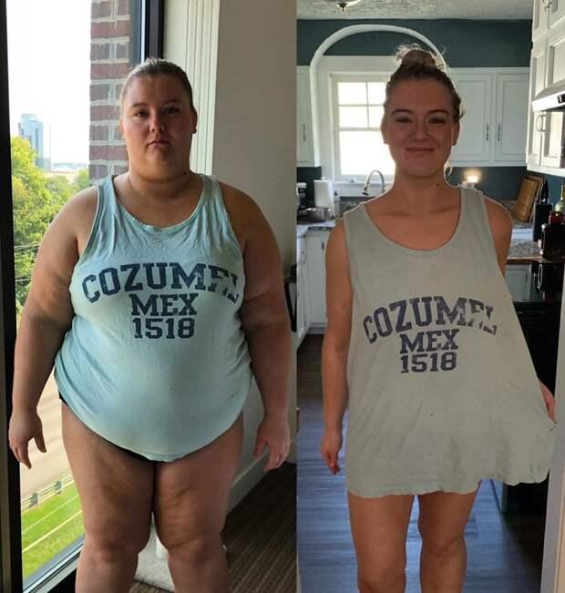 17 снимков девушек, которые после похудения надели свою старую одежду и показали, как выглядят в ней сейчас