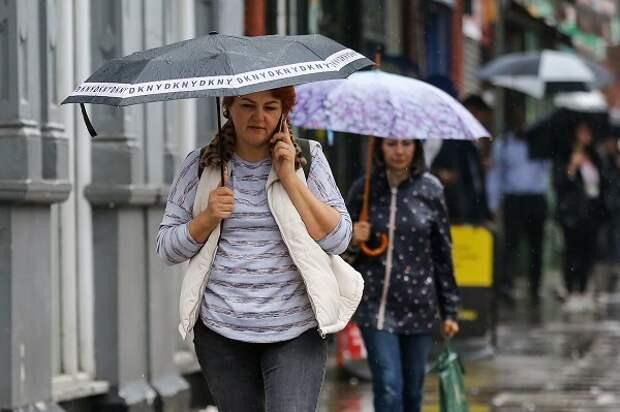 В Москве прогнозируется «мокрая» неделя
