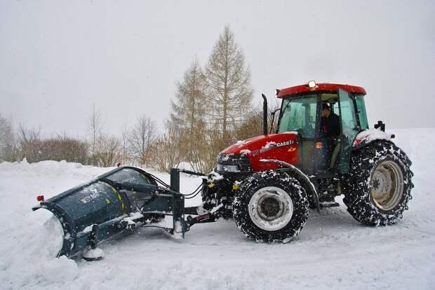Трактор, Снег, Уборка Снега, Зима, Машины, Дороги