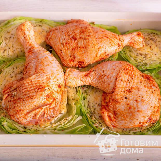 Шайбы из капусты с курицей в духовке