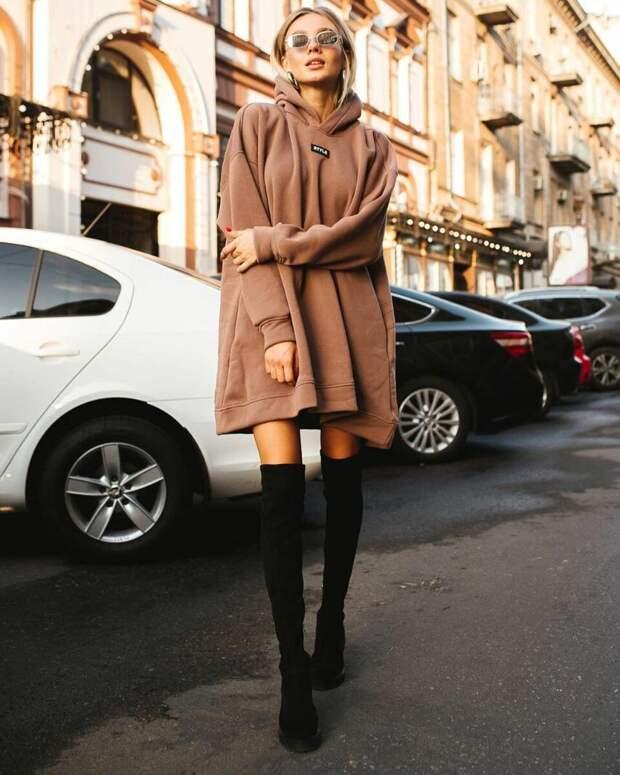 Платье-толстовка: 11 идей, которые помогут достичь внутреннего комфорта