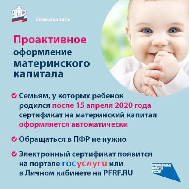 Красногорцам на заметку: сертификат на материнский капитал можно получить в  электронном виде