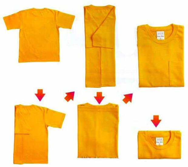 Как сложить футболку: ТОП методы