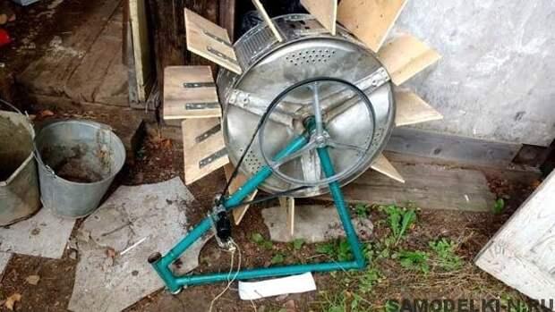 Мини-ГЭС из барабана от стиралки