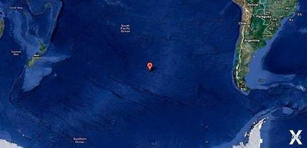 Точка Немо на карте Земли