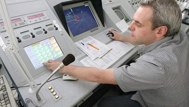 Работа авиадиспетчера. Архивное фото