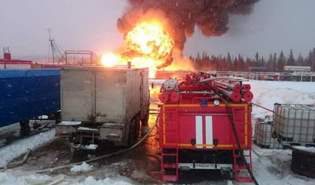 Один человек пострадал при пожаре нагазокомпрессорной станции ЛУКОЙЛа вЮгре