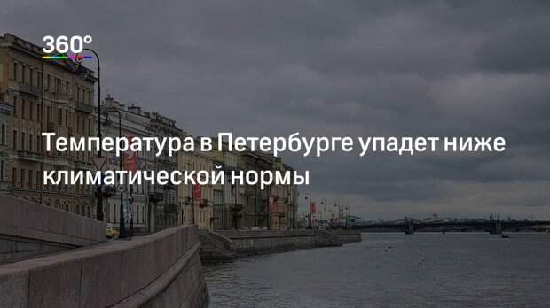 Температура в Петербурге упадет ниже климатической нормы