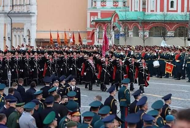 Казаки исторических отделов Кубанского казачьего войска приняли участие в параде Победы в Москве