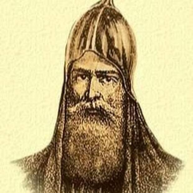 Изображение князя Гостомысла на старинной гравюре