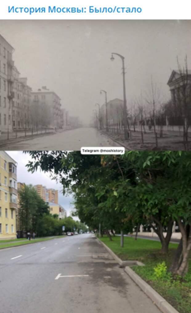 Фото дня: как изменилась часть Часовой улицы за полвека