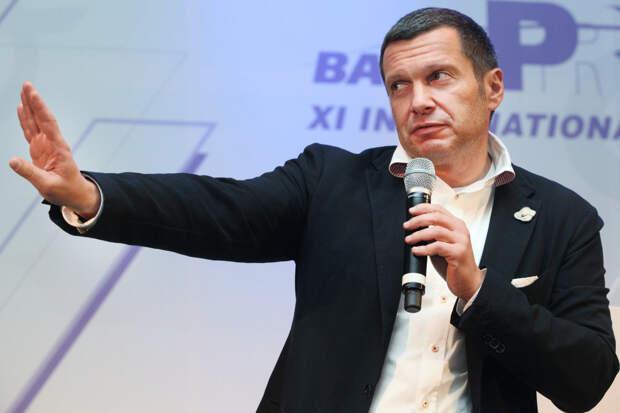 Соловьев  высмеял Порошенко за его слова во время встречи с Байденом