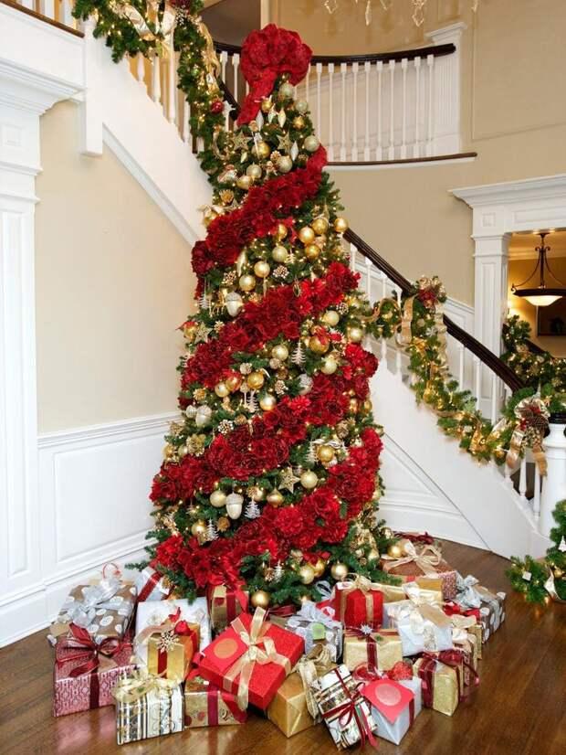 Как украсить елку. Много красивых идей.