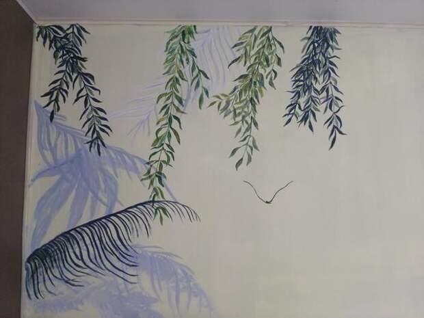 Левая сторона рисунка. Фото автора