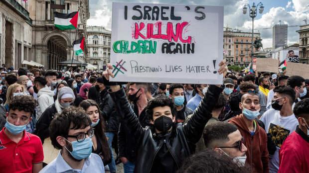В Париже участников акции в поддержку Палестины разгоняют водометами