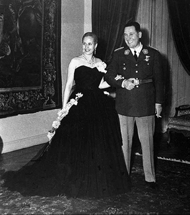 Президент Перон вместе с первой леди