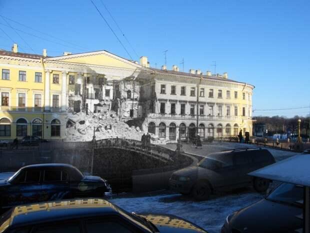 Ленинград 1942-2009 Набережная Мойки 1. Дом Адамини блокада, ленинград, победа
