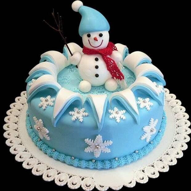 Зимние тортики. Браво кондитерам за фантазию и мастерство!