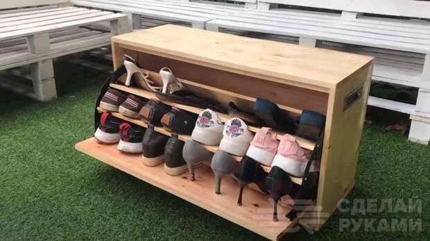 Как сделать деревянный комод для хранения обуви