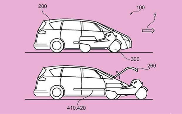 Решение для нетерпеливых: автомобиль со встроенным мотоциклом