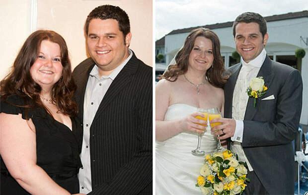 Элисон сбросила 50 кило, чтобы влезть в свадебное платье своей мечты, а Пит потерял 35 килограммов, чтобы смокинг смотрелся на нем лучше диета, лишний вес, похудение