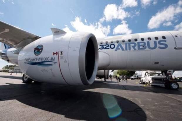 Двигатель Pratt & Whitney PW1100G-JM на Airbus A320neo (A320-251N)