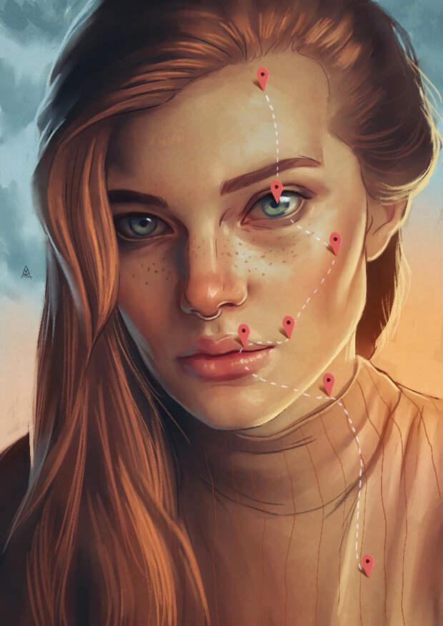 Турецкий художник рисует картины, в которых узнает себя каждая влюбленная девушка.