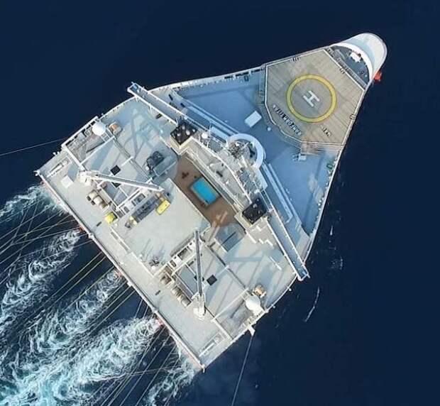 Зачем плавучий «утюг» Ramform Hyperion бороздит океан
