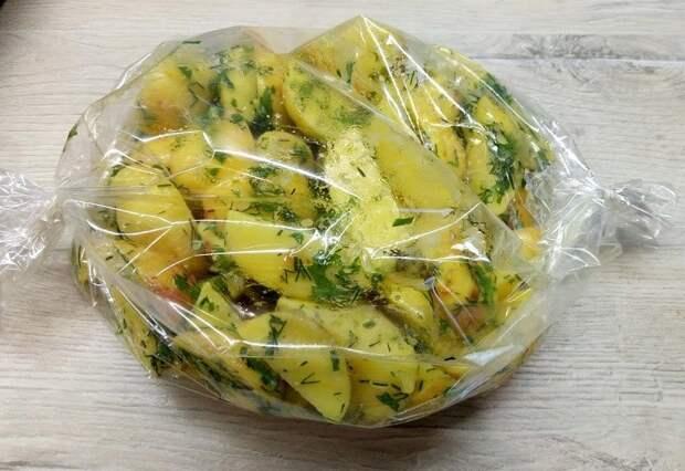 Картошка в пакете для запекания. Быстро, вкусно и сытно 4